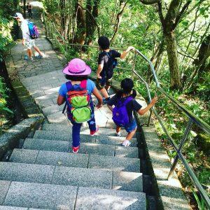 急な階段が多い